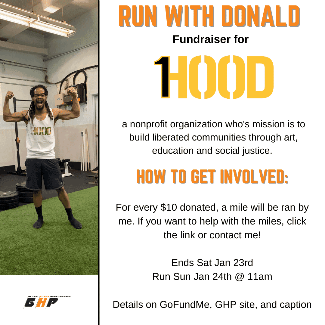 Running with Donald Birthday Fundraiser