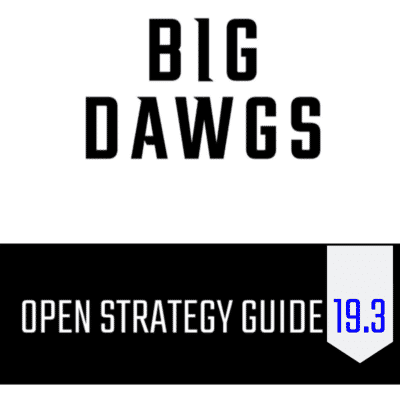 Open Strategy Guide: 19.3