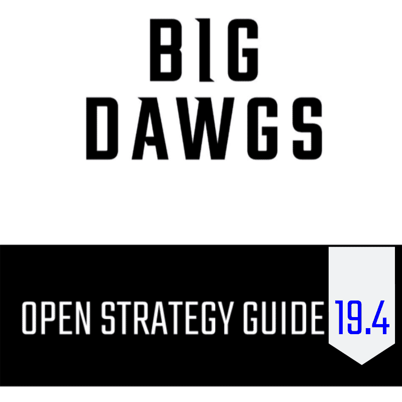 Open Strategy Guide: 19.4