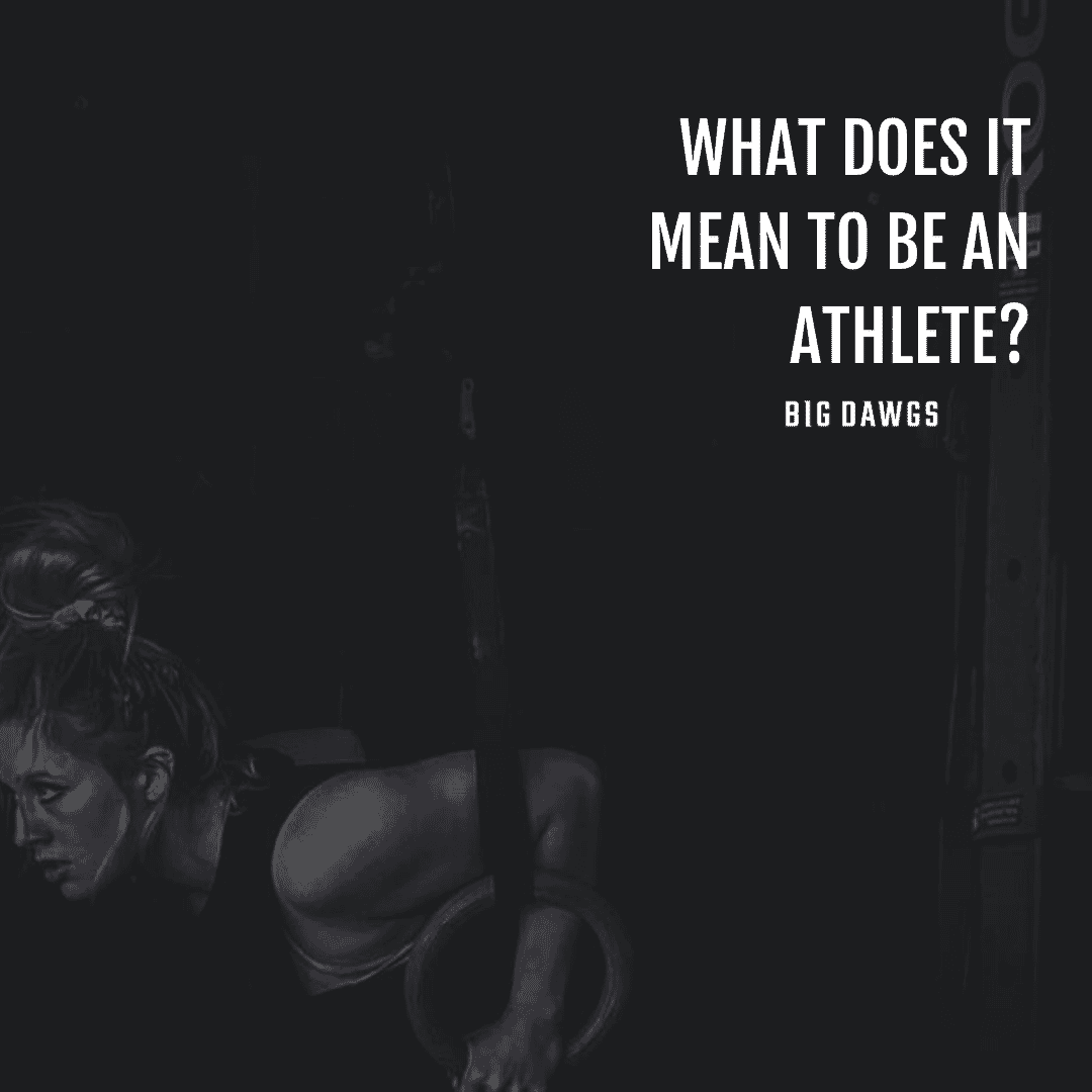 What does it mean to be an athlete?