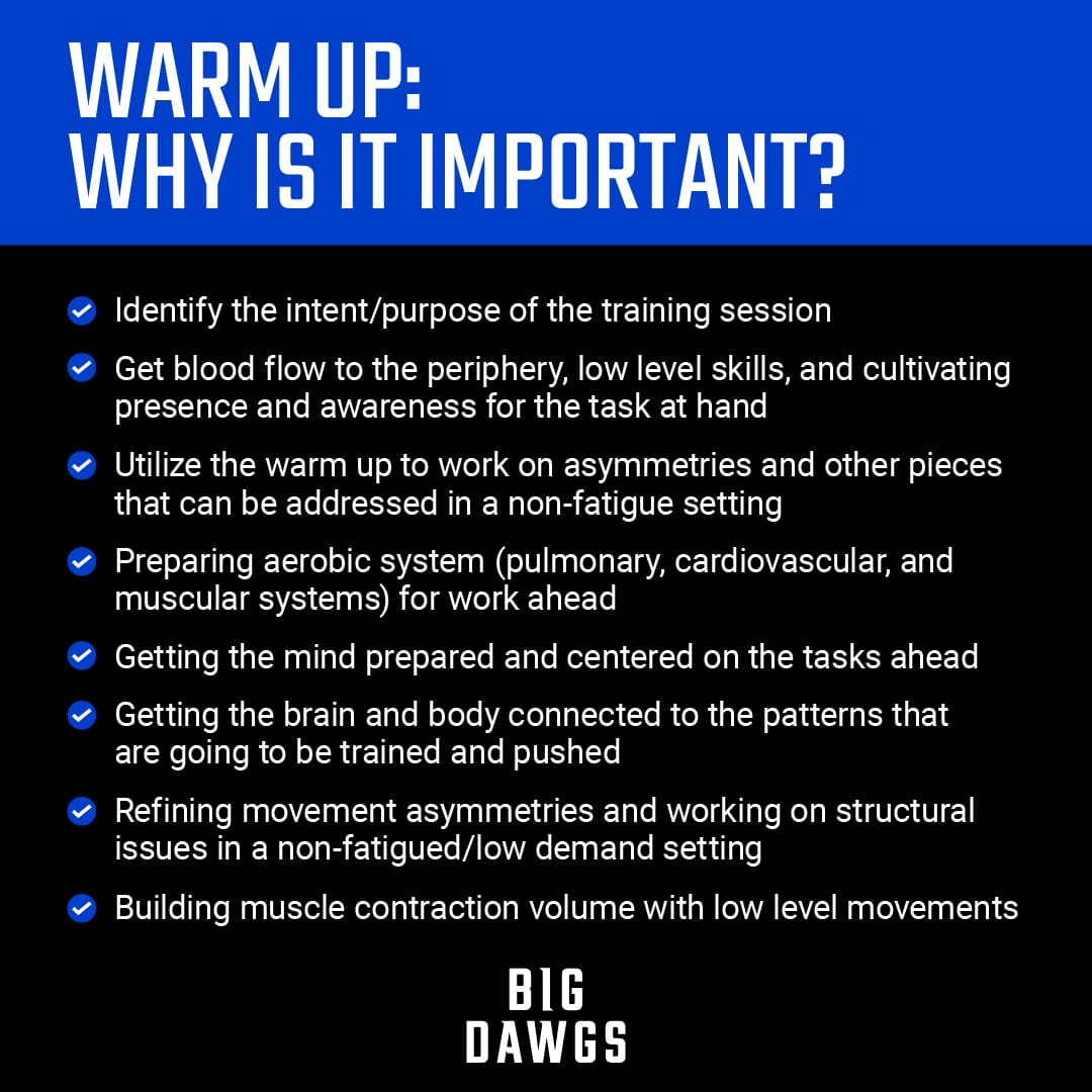 Warm ups: Why are they important?