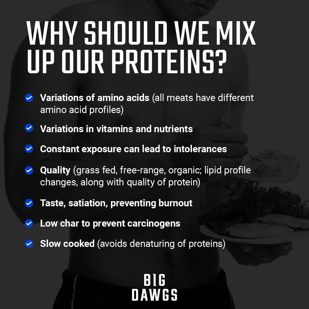 Why Should We Mix Up Our Proteins?