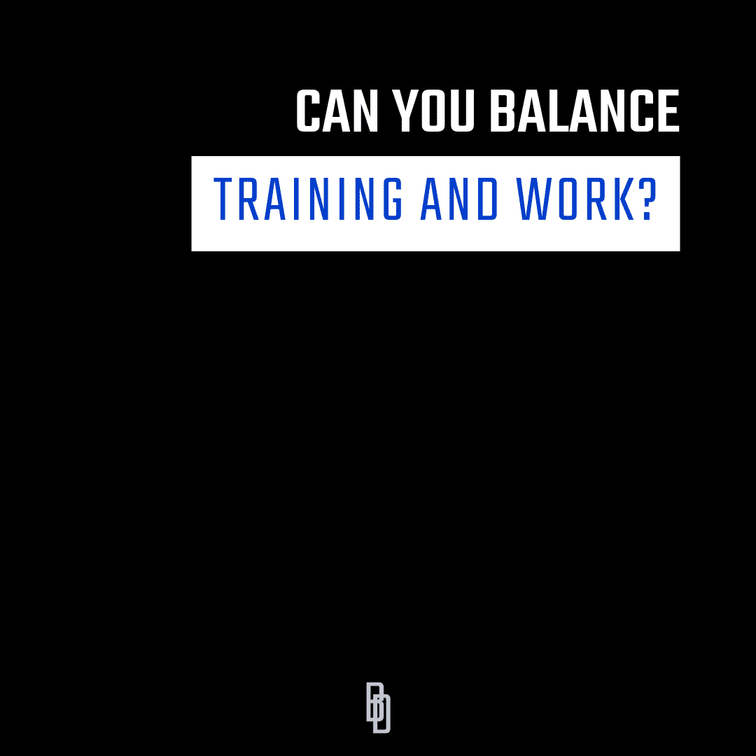 Can You Balance Training and Work?