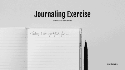 Journaling Exercise - become more present