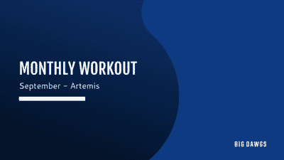 September 2020 Monthly Workout