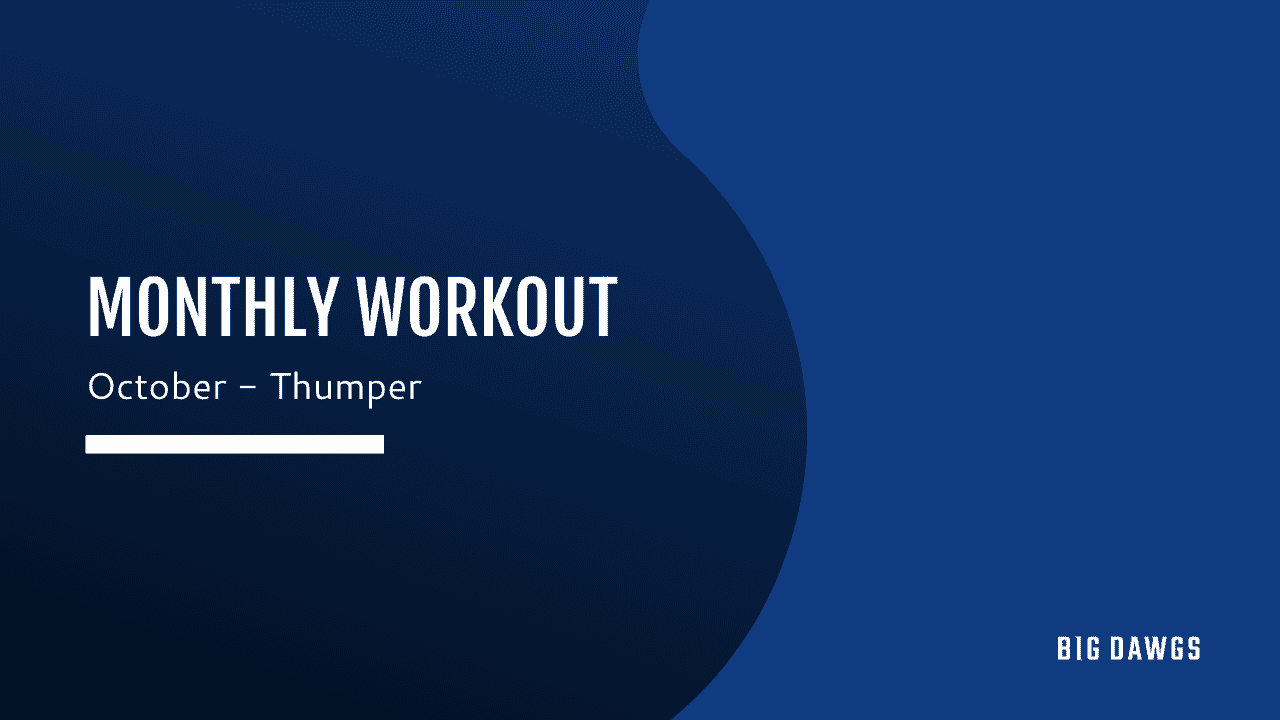 October 2020 MONTHLY WORKOUT