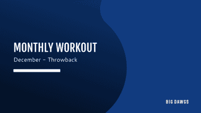 December 2020 Monthly Workout