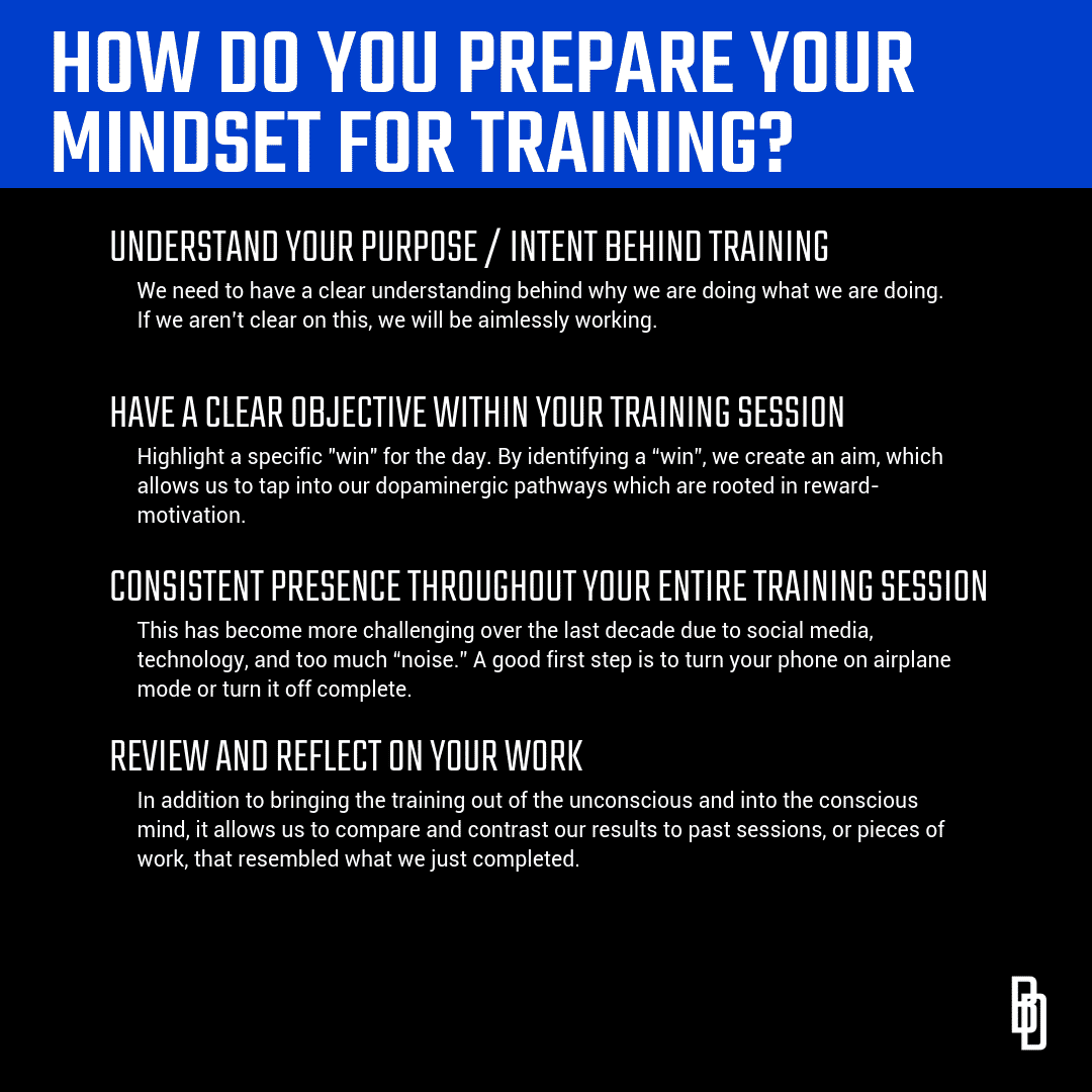 How Do You Prepare Your Mindset for Training?