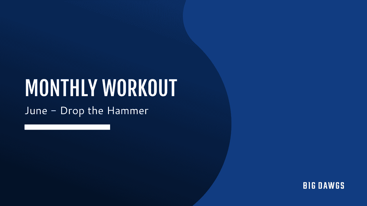 JUNE 2020 MONTHLY WORKOUT