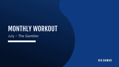JULY 2020 MONTHLY WORKOUT