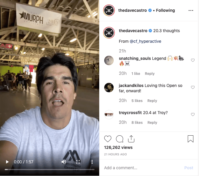 The Dave Castro's 20.3 Thoughts