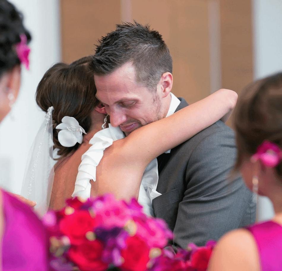 Sean McGovern Wedding Photo Hugging Becky