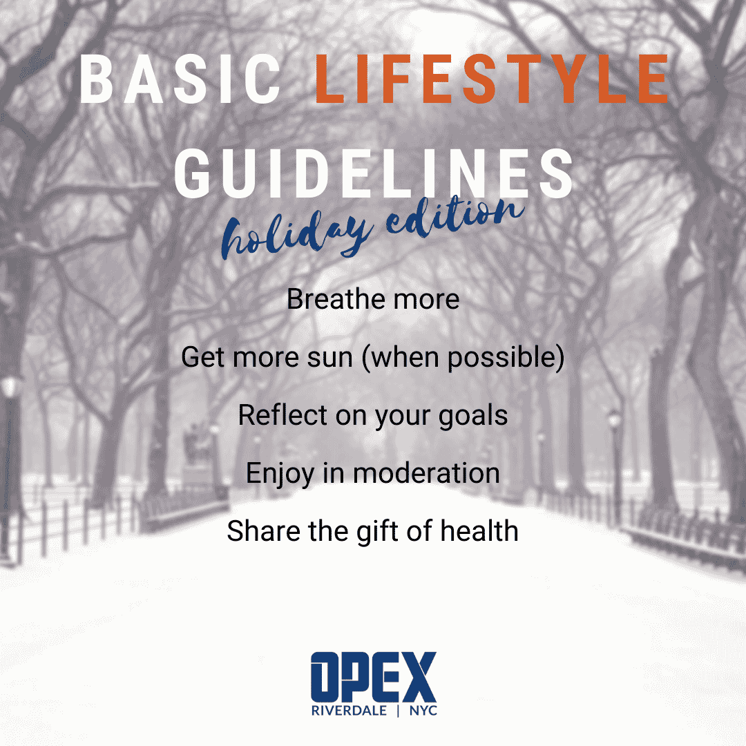 Holiday Edition: Basic Lifestyle Guidelines