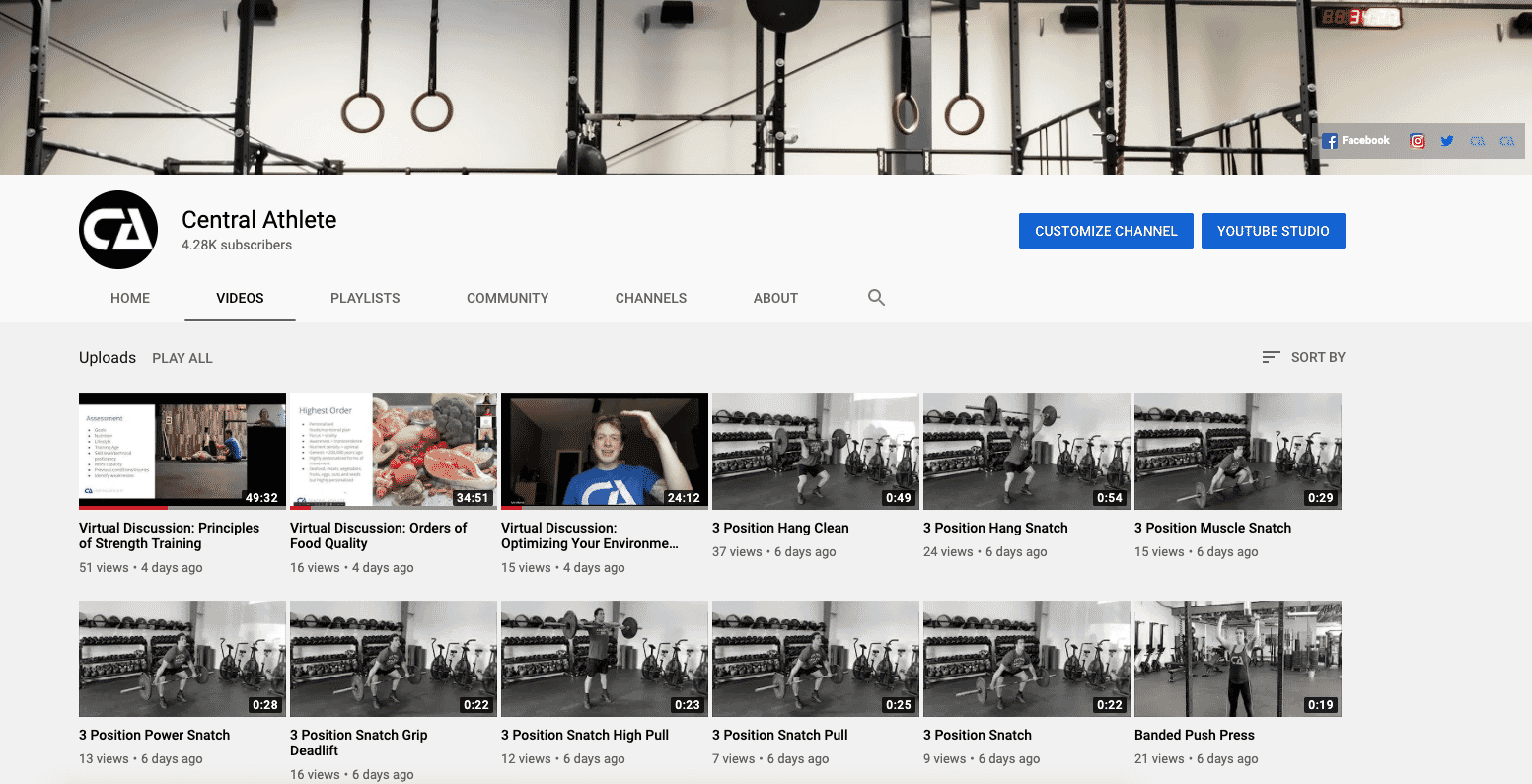 Exercise Video Library